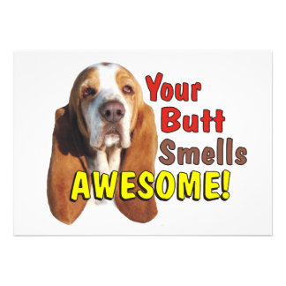 Your Butt Smells AWESOME Dog Invitations