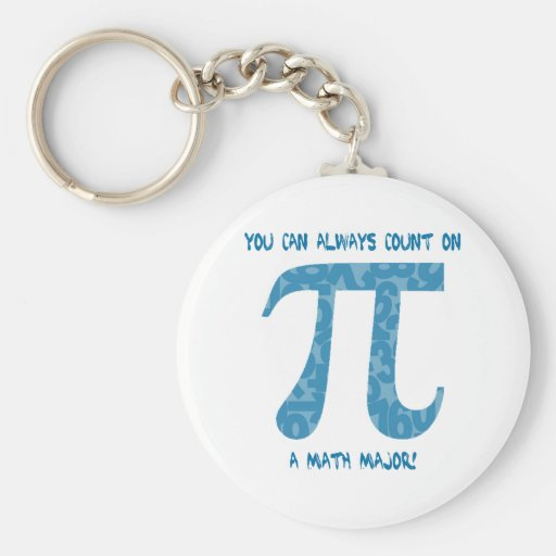 Your Can Always Count on A Math Major Pi Tees Keychains