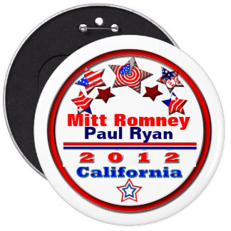 Your Candidate California 6 Cm Round Badge
