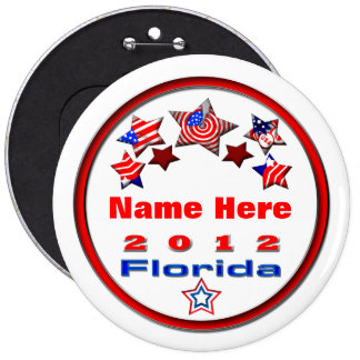 Your Candidate Florida 6 Cm Round Badge