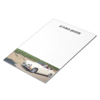 Your Car and Custom Name Notepad