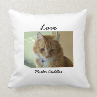 Your Cat Photo Personalized Pillow