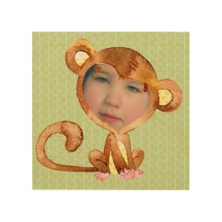 Your Child's Face in a Monkey Suit Wood Print