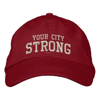 Your City STRONG Personalizable Your Own Embroidered Hat