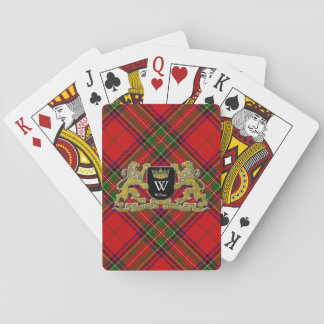 Your Coat of Arms Monogram and Tartan Playing Cards