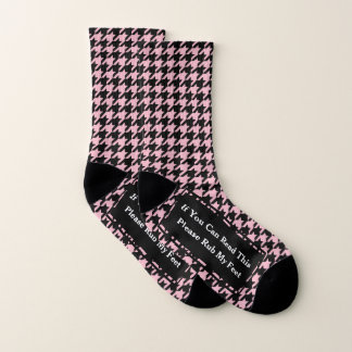 Your Color Choice Hounds Tooth Please Rub My Feet 1