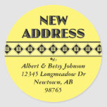 Your Colour Choice! New Address Stickers