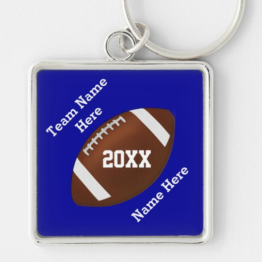 Your Colours and Your Text Football Keychains