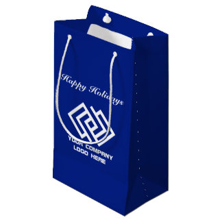 Your Company Holiday Party Logo Gift Bag Small B