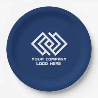"""Your Company Logo 9"""" Paper Plates - Choose  Color 9 Inch Paper Plate"""