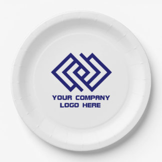 """Your Company Logo 9"""" Paper Plates W"""