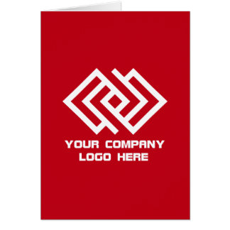 Your Company Logo Greeting Card Red