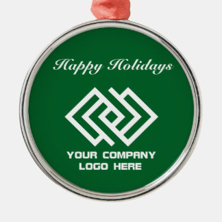 Your Company Logo Holiday Ornament Green Rd