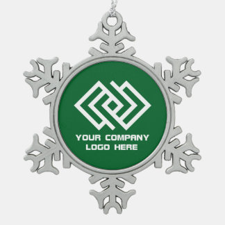 Your Company Logo Holiday Ornament Green SF