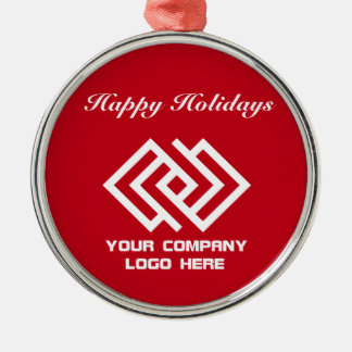 Your Company Logo Holiday Ornament Red Rd