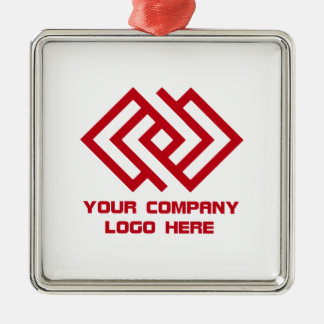 Your Company Logo Holiday Ornament W S