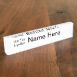Your Company Logo Name Plate