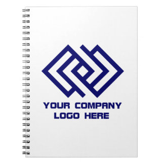 Your Company Logo Notebook White or Change Colour