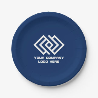 Your Company Logo Paper Plates - Choose Your Color 7 Inch Paper Plate