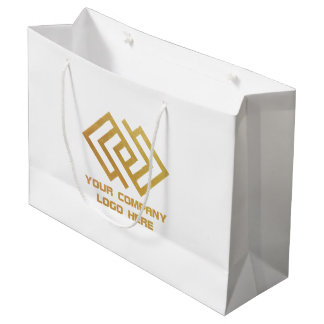 Your Company Logo Party Gift Bag Large W