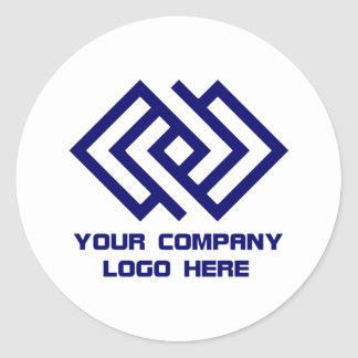 Your Company Logo Stickers White R