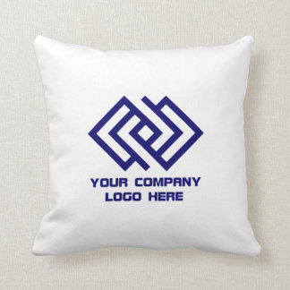 Your Company Logo Throw Pillow - Choose Colour