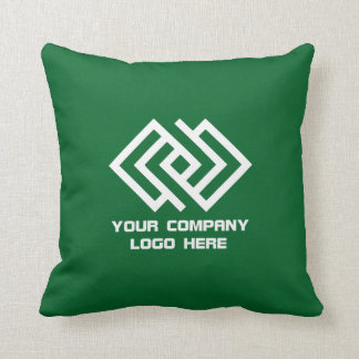 Your Company Logo Throw Pillow Green or Pick