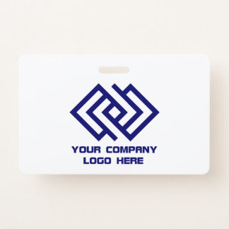 Your Company Logo Wide ID Badge