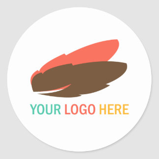 Your company or business logo custom promotional round sticker