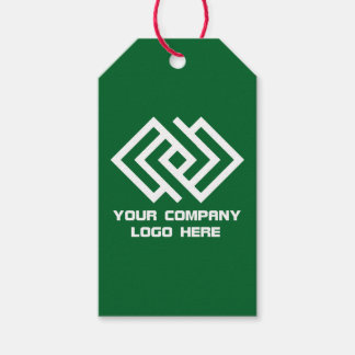 Your Company Party Logo Gift Tags Green