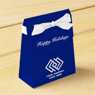 Your Company Party Logo Holiday Tent Favor Box Bl