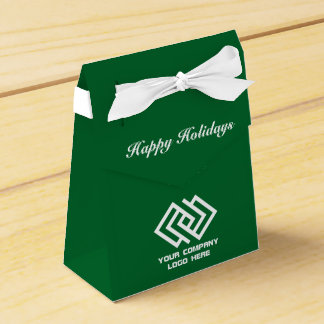 Your Company Party Logo Holiday Tent Favor Box Gr