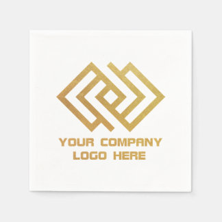 Your Company Party Paper Cocktail Napkins White Disposable Napkins