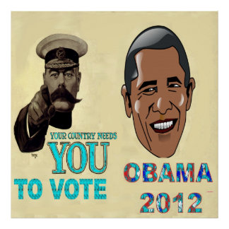 Your Country Need You to Vote, OBAMA 2012 Canvas P Poster