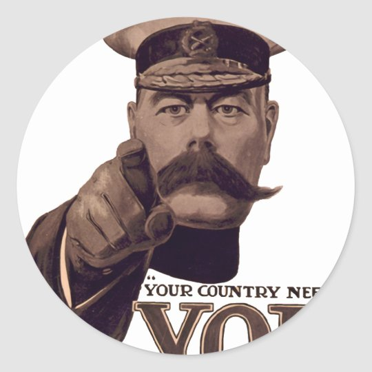 Your Country Needs YOU 1 Round Sticker
