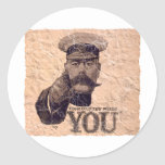 Your Country Needs YOU 3 Round Stickers