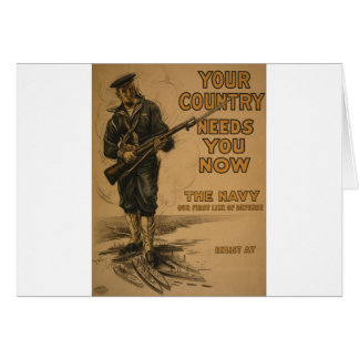 Your Country Needs You Now Greeting Card