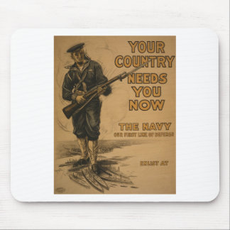 Your Country Needs You Now Mouse Pad