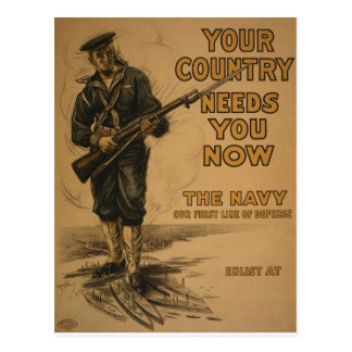 Your Country Needs You Now Postcard
