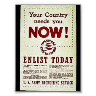 Your Country Needs You Now Poster