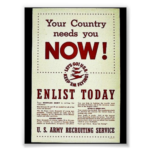 Your Country Needs You Now Print