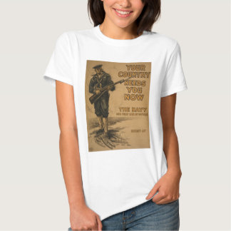 Your Country Needs You Now Tshirts