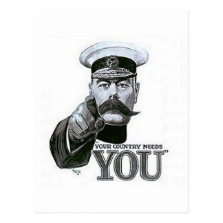 Your Country Needs You Postcard