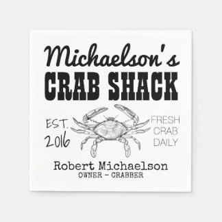 Your Crab Shack Paper Napkin