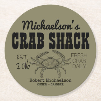 Your Crab Shack Round Paper Coaster