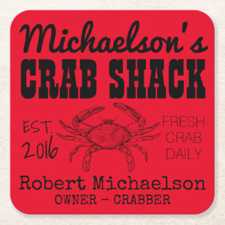 Your Crab Shack Square Paper Coaster