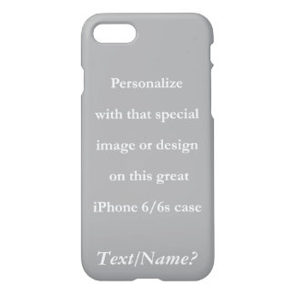 Your Custom Design or Image White Text iPhone 7 Case