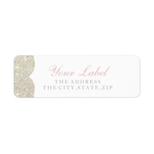Your Custom Label - Glittered Crest Fab White G2
