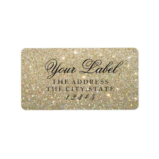 Your Custom Label - Gold Glit Fab