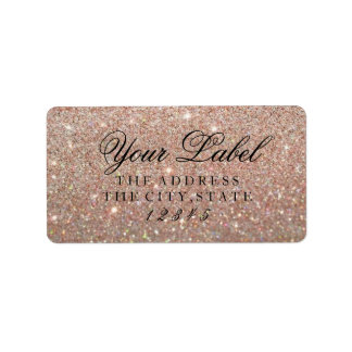 Your Custom Label - Rose Gold Glit Fab Address Label